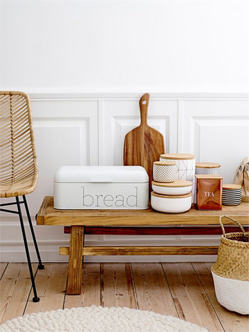 Metal Bread Bin in White design by BD Edition
