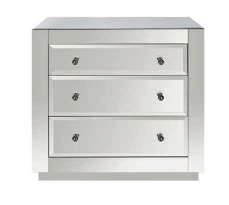 3 Drawer Chest with Beveled Mirror