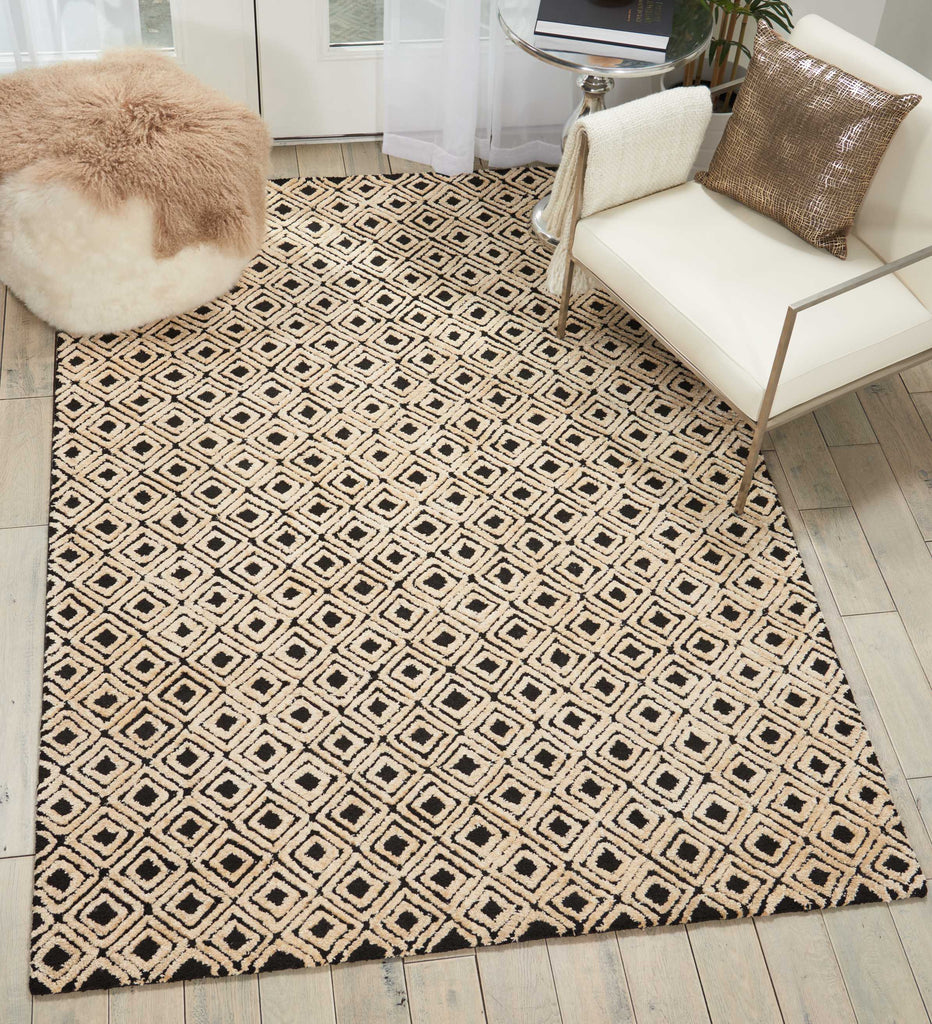 Deco Mod Rug in Black/Beige by Nourison