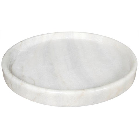 Round Tray in White Stone in Various Sizes