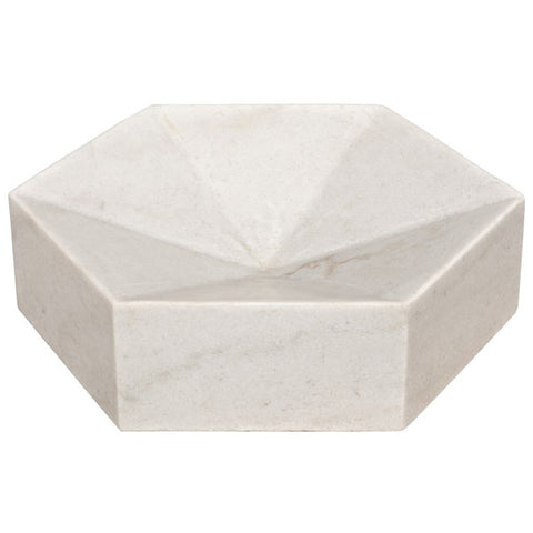 Conda Tray in White Stone by Noir