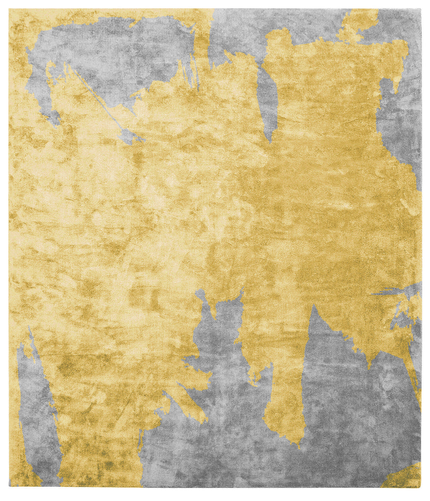 Action Caccia Hand Knotted Rug in Yellow design by Second Studio - BURKE DECOR