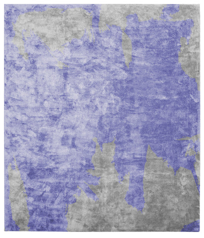 Action Caccia Hand Knotted Rug in Purple design by Second Studio - BURKE DECOR