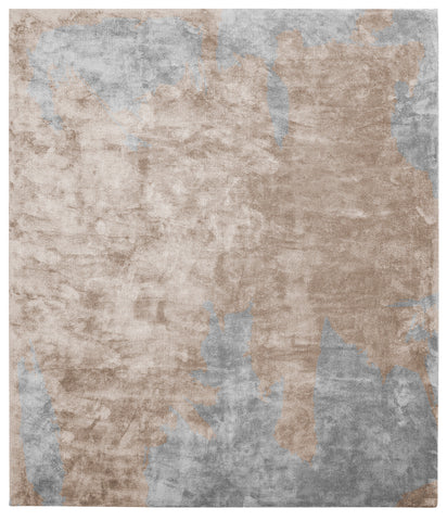 action caccia hand knotted rug in brown design by second studio burke decor