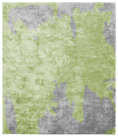 Action Caccia Hand Knotted Rug in Green design by Second Studio - BURKE DECOR