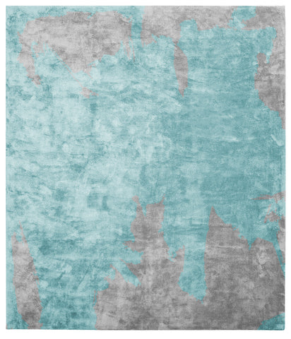 Action Caccia Hand Knotted Rug in Blue design by Second Studio - BURKE DECOR