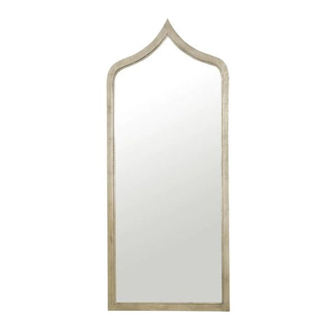 Adina Moroccan Style Silver Leaf Iron Mirror design by BD Studio