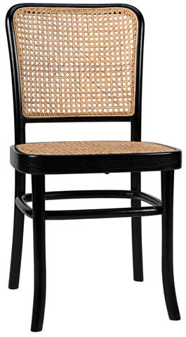 Didas Chair with Caning Charcoal Black