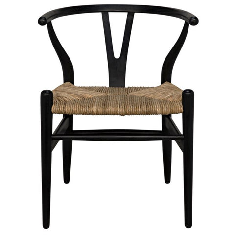 Zola Chair w/ Rush Seat in Various Colors by Noir