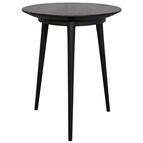Tripod Side Table in Charcoal Black by Noir