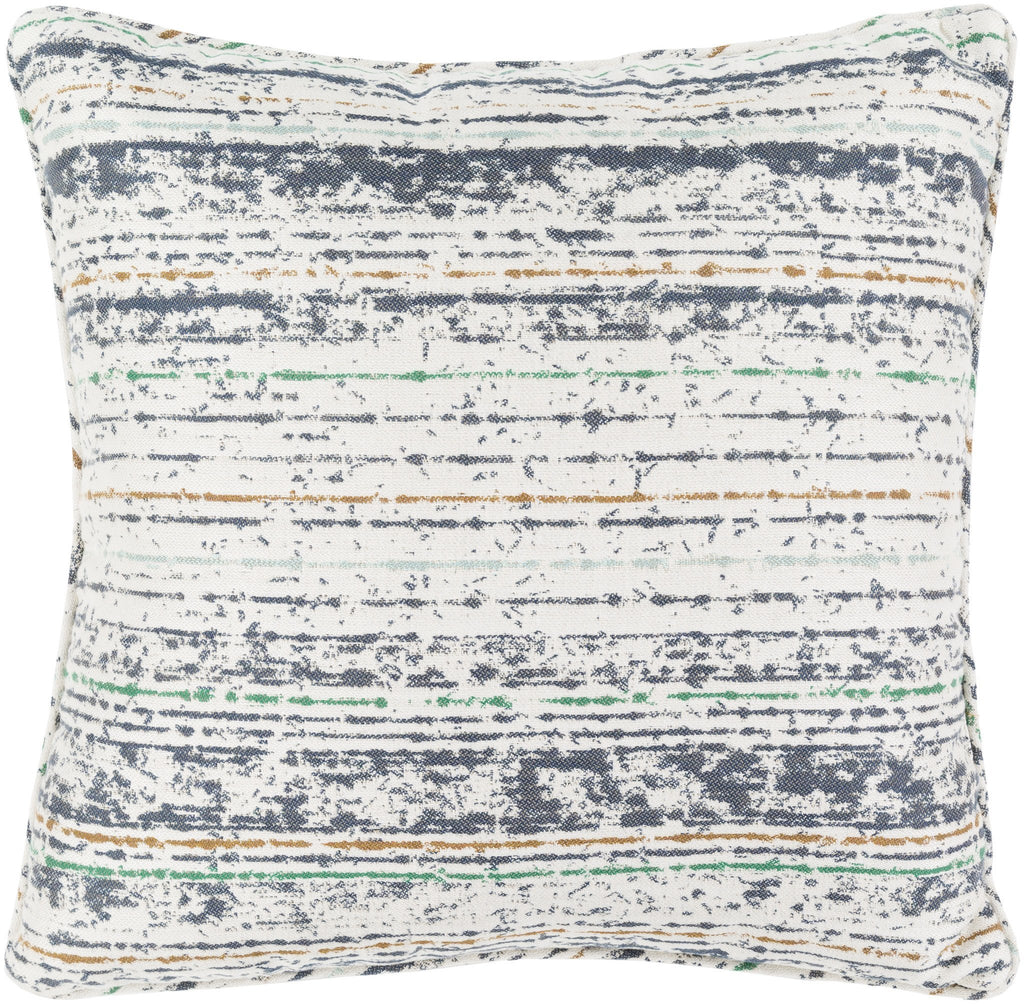 "Arie 20"" Outdoor Pillow in Grey & Moss design by Sunbrella"