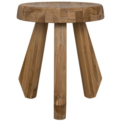 Priam Teak Stool by Noir