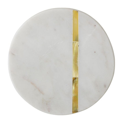 Marble Coasters With Gold Inlay -Set of 4