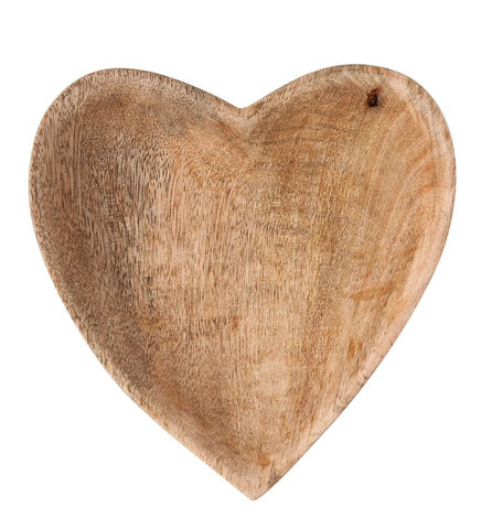 Mango Wood Heart Bowl design by BD Edition