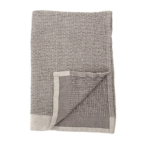 Set of 2 Cotton Waffle Weave Kitchen Towels in Grey design by BD Edition