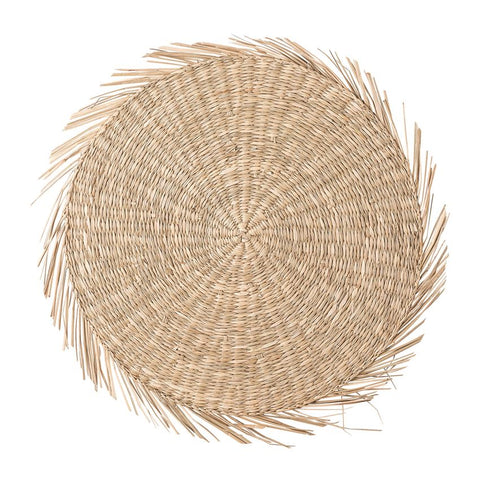 Hand-Woven Natural Seagrass Placemat
