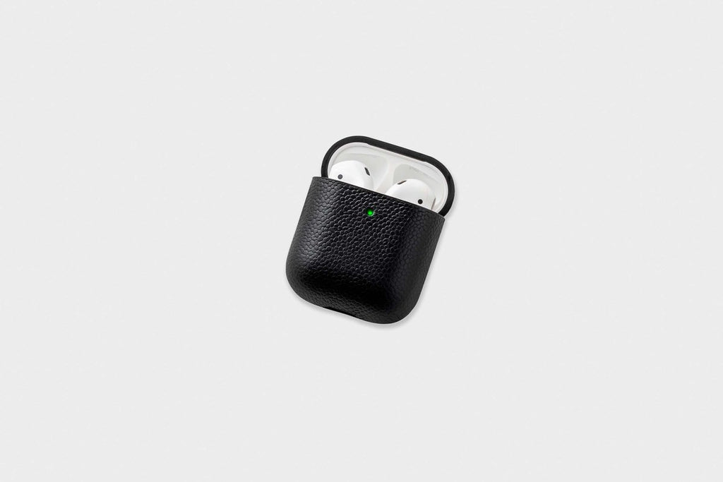 Courant AirPods Leather Case - Black