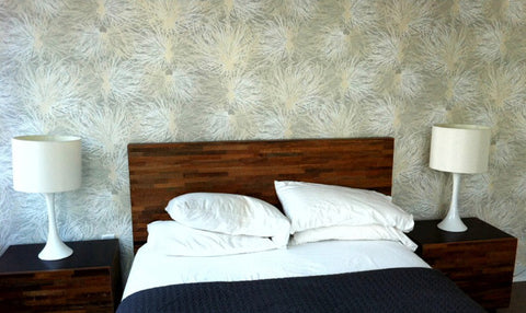 Anemone Wallpaper in Wet Stone design by Jill Malek