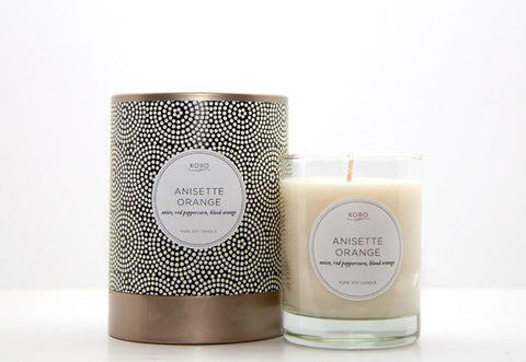 Anisette Orange Candle design by Kobo Candles