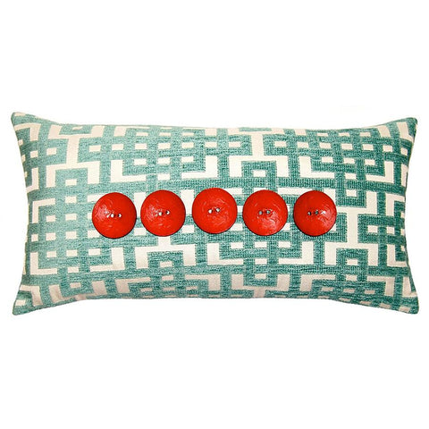Aquared 5 Button Pillow