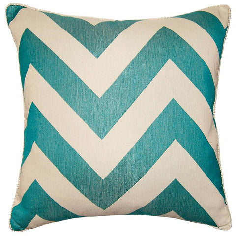 Aquared Chevron Pillow