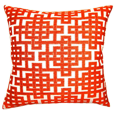 Aquared Red Puzzle Pillow