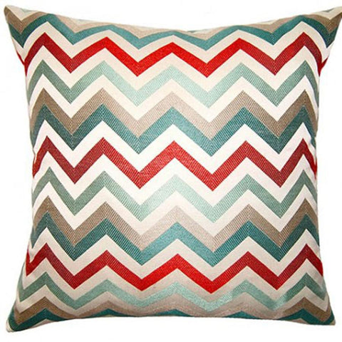 Aquared Zig Zag Pillow in Various Sizes
