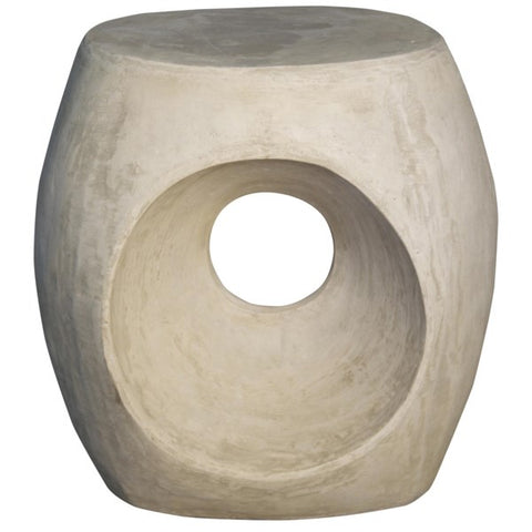 Trou Side Table/Stool in Fiber Cement by Noir