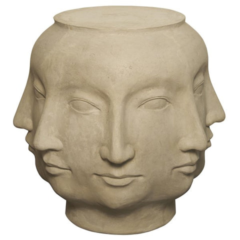 Multi-Face Stool in Fiber Cement by Noir
