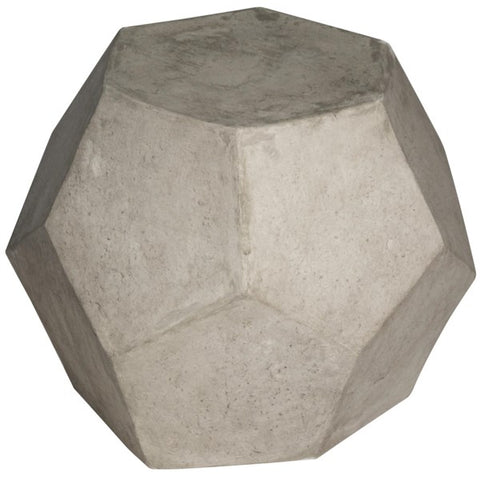 Geometry Side Table/Stool in Fiber Cement