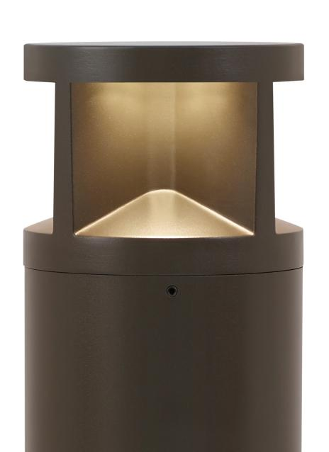 3000K Arkay Two 36 Outdoor Bollard by Tech Lighting