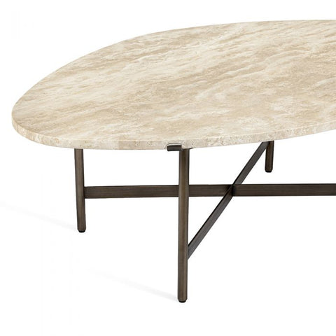 Arlington Cocktail Table in Travertine design by Interlude Home