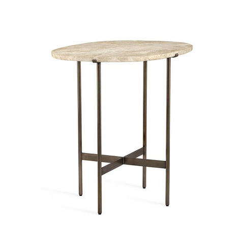 Arlington Lamp Table in Travertine design by Interlude Home