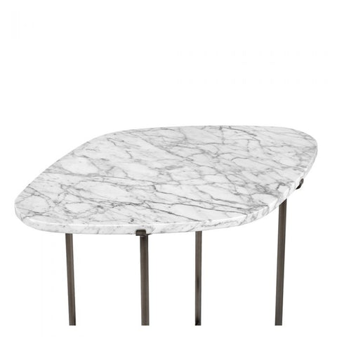 Arlington Side Table in Carrara design by Interlude Home