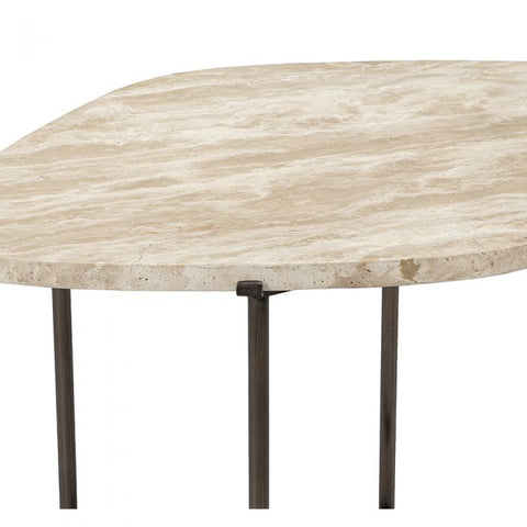 Arlington Side Table in Travertine design by Interlude Home