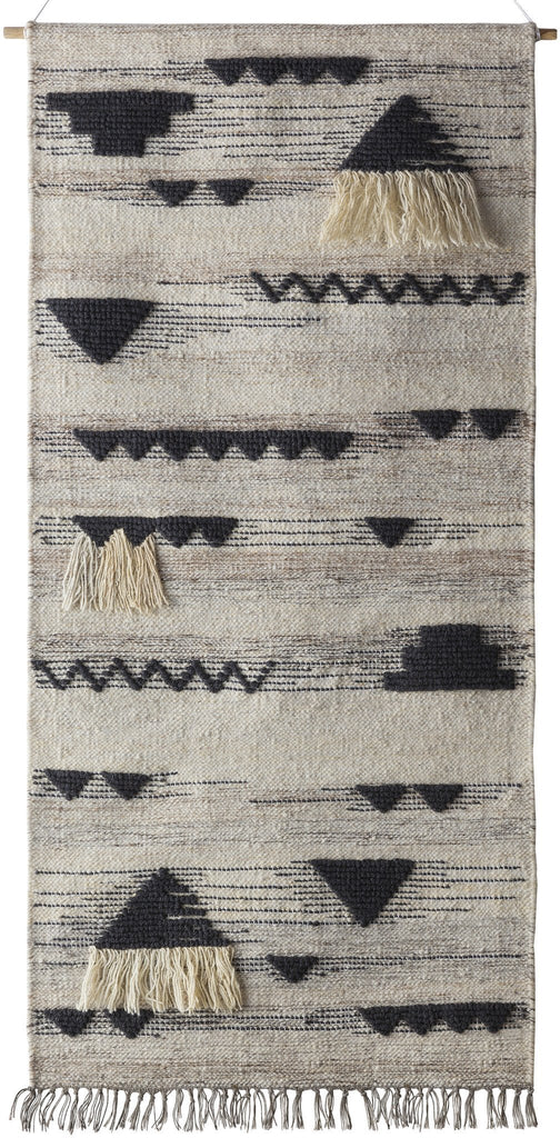 Asher Hanging Rug in Black & White design by Surya