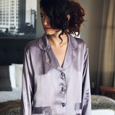 Ashley Classic Silk Pajama Set design by Kumi Kookoon