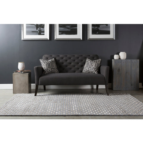 Atlantis Collection New Zealand Wool Area Rug in Dove Grey