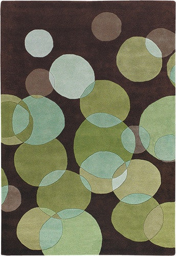 Avalisa Hand-Tufted Bubbles New Zealand Wool Area Rug in Lime design by Chandra rugs