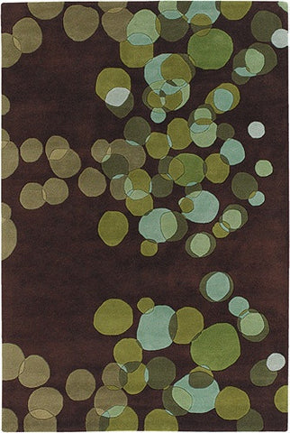 Avalisa Hand-Tufted Tiny Bubbles New Zealand Wool Area Rug in Lime design by Chandra rugs