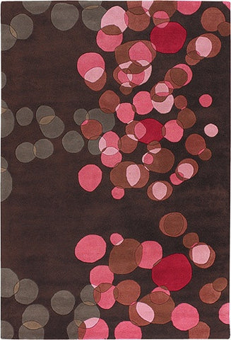 Avalisa Hand-Tufted Tiny Bubbles New Zealand Wool Area Rug in Poppy design by Chandra rugs