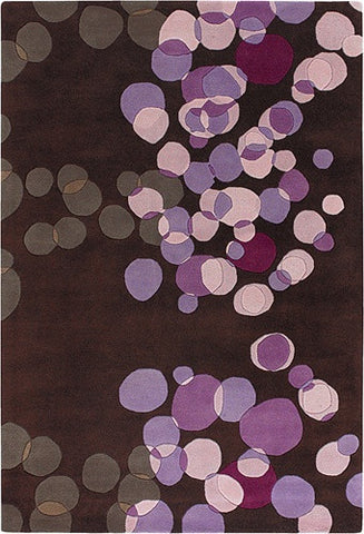 Avalisa Hand-Tufted Tiny Bubbles New Zealand Wool Area Rug in Lavender design by Chandra rugs