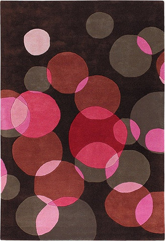 Avalisa Hand-Tufted Poppy Bubbles New Zealand Wool Area Rug design by Chandra rugs