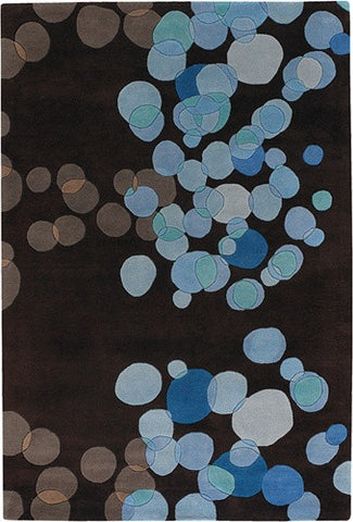 Avalisa Hand-Tufted Tiny Bubbles New Zealand Wool Area Rug in Blue design by Chandra rugs
