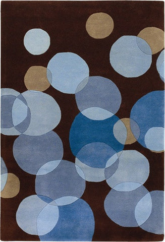 Avalisa Hand-Tufted Blue Bubbles New Zealand Wool Area Rug design by Chandra rugs
