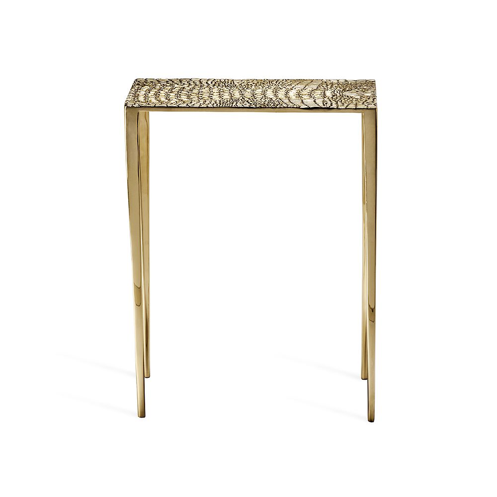 Axel Rectangular Croc Table in Various Colors Design by Interlude Home