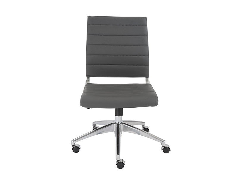 Axel Low Back Office Chair Armless in Grey design by Euro Style
