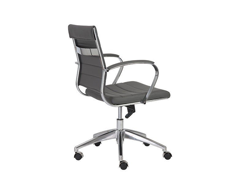 Axel Low Back Office Chair in Grey design by Euro Style