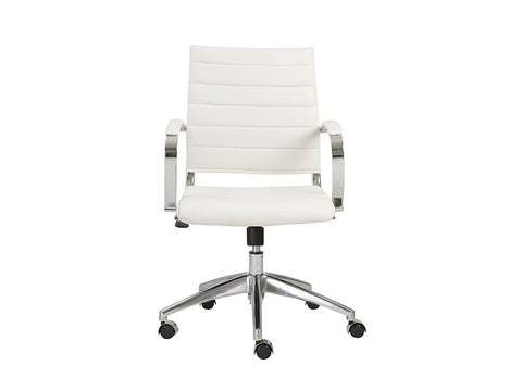 Axel Low Back Office Chair in White design by Euro Style