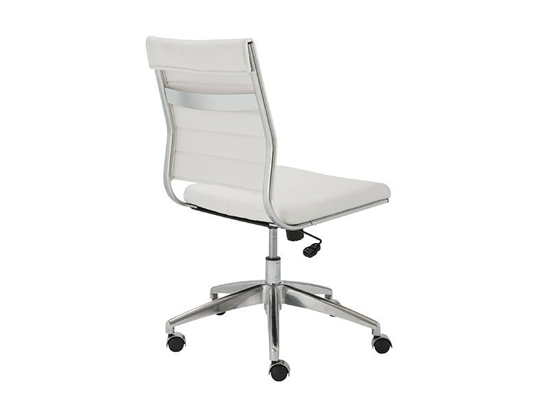axel low back office chair armless in white design by euro
